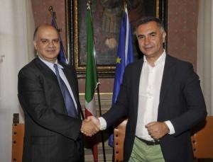 Marco Vinicio Guasticchi e Yashwant Bajaj organizzatore dell'Umbria Rock Festival