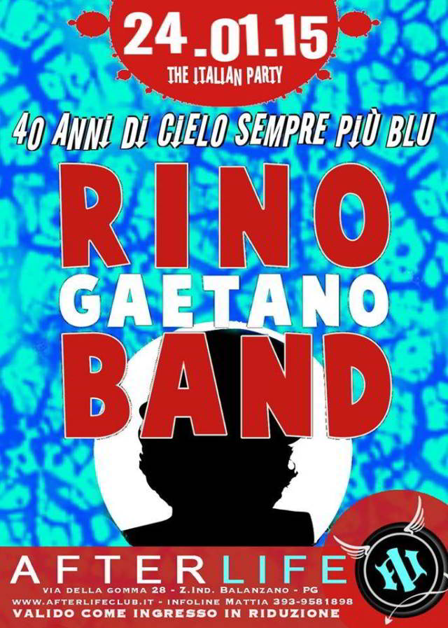 La Rino Gaetano Band all'Afterlife Live Club