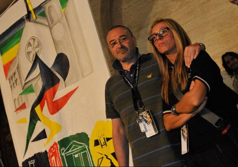 Il presidente dell'Ente Palio Marco Gnavolini e il coordinatore Vanessa Capocchia
