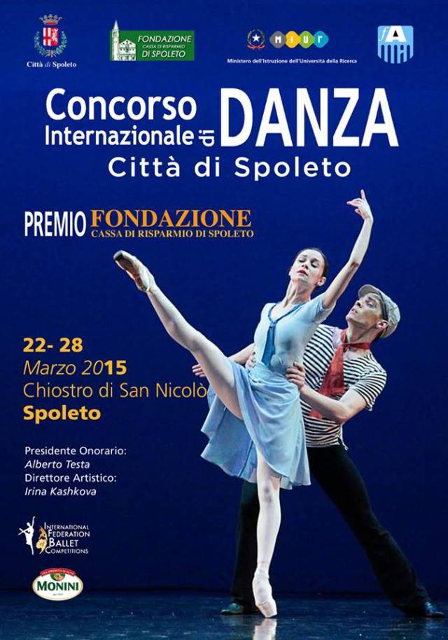 Locandina Concorso Internazionale di danza Città di Spoleto