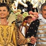 Federica Moro e il presidente della Quintana Metelli