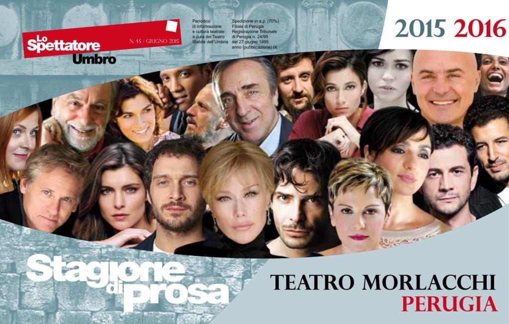 stagione di prosa 2015 2016 Teatro Morlacchi