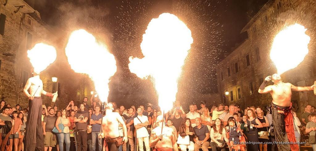 Festa dei Barbari - Castel Rigone - Focolieri