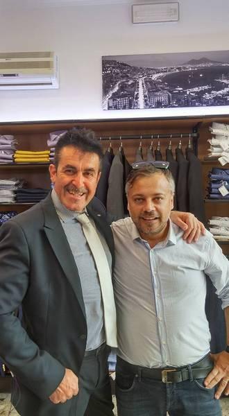 Il titolare Eros Marzi con il Patron Gino Sirci, Presidente della Sir Safety Perugia