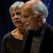 Enigma nella foto Ottavia Piccolo e Silvano Piccardi (foto L. De Frenza) 7