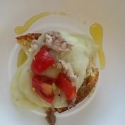 crostino tartufo vellutata patate tinca affumicata