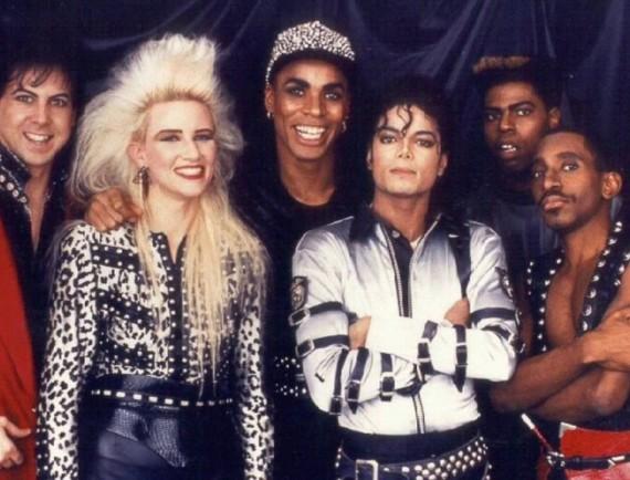 Jennifer Batten con Michael Jackson tour