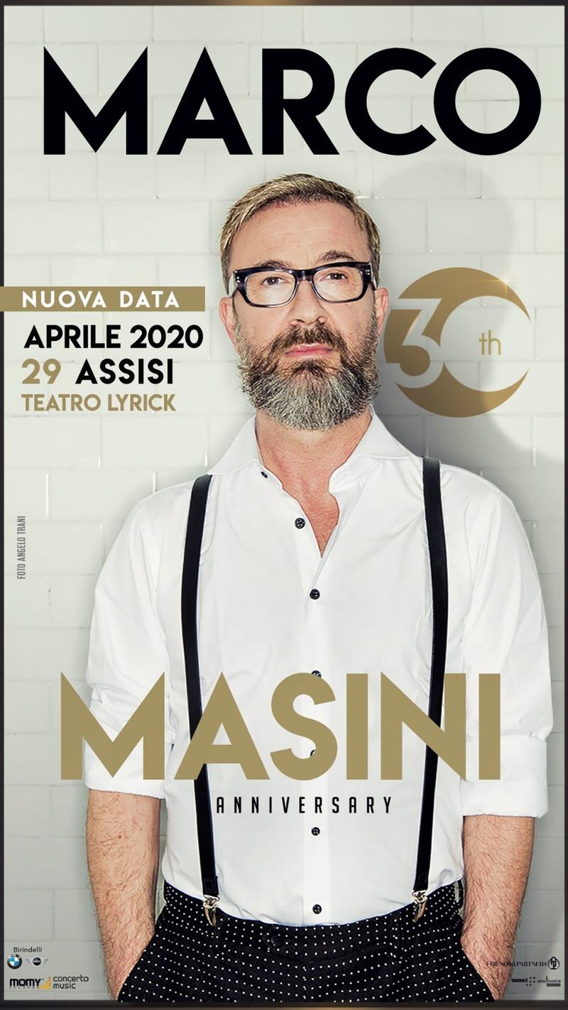 Marco Masini al Teatro Lyrick di Assisi LOCANDINA